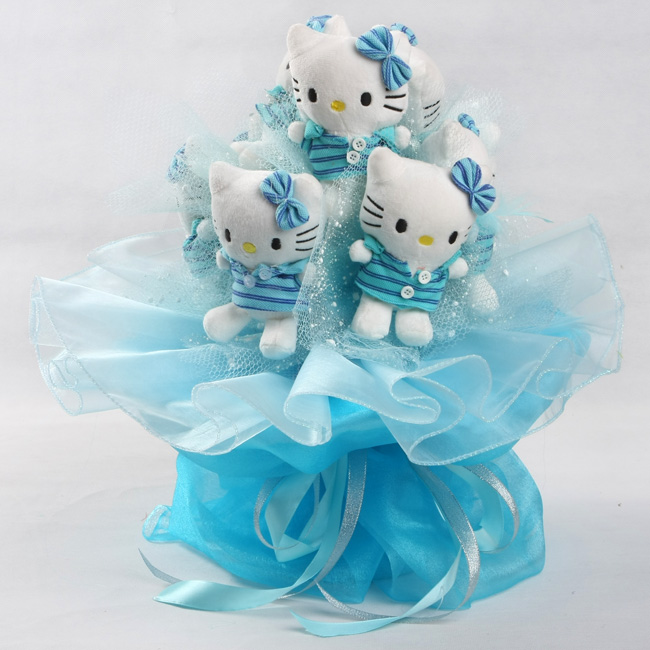 Hallo Kitty Bouquet in Blau-C025
